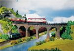 Faller 222586 N Scale Curved Viaduct Sections (2) Era I
